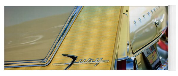 1958 Plymouth Fury Golden Commando Taillight Emblem -3447c Yoga Mat