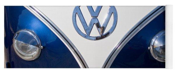1958 Volkswagen Vw Bus Hood Emblem Yoga Mat