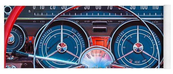 1959 Buick Lesabre Steering Wheel Yoga Mat