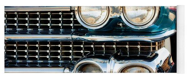 1959 Cadillac Sedan Deville Series 62 Grill Yoga Mat