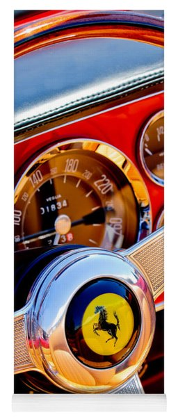 1960 Ferrari 250 Gt Cabriolet Pininfarina Series II Steering Wheel Emblem -1319c Yoga Mat