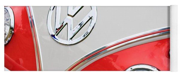 1960 Volkswagen Vw 23 Window Microbus Emblem Yoga Mat
