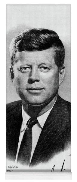 1960s Jfk Official White House Portrait Yoga Mat