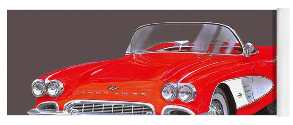 1961 Corvette Convertible Yoga Mat