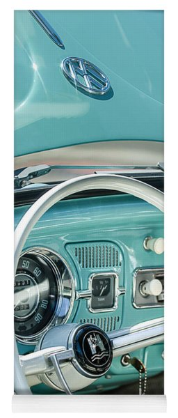 1962 Volkswagen Vw Beetle Cabriolet Steering Wheel Yoga Mat