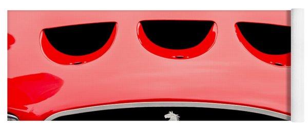 1963 Ferrari 250 Gto Grille Emblem -1753c Yoga Mat