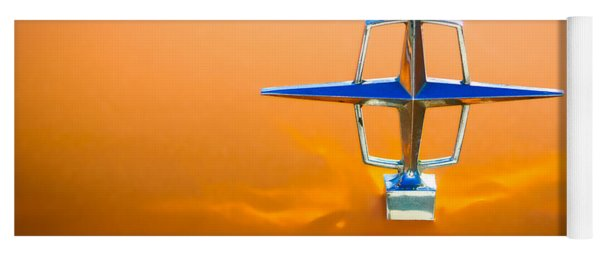 1963 Lincoln Continental Hood Ornament Yoga Mat