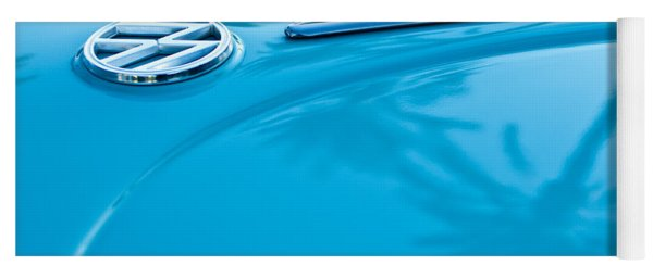 1964 Volkswagen Vw Bug Emblem Yoga Mat