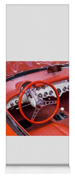 1965 Sting Ray Corvette Cabin And Steering Wheel Yoga Mat