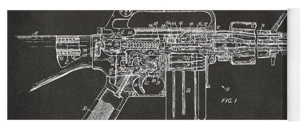 1966 M-16 Gun Patent Gray Yoga Mat