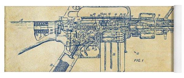 1966 M-16 Gun Patent Vintage Yoga Mat