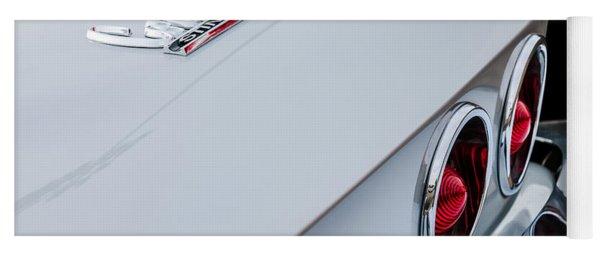 1967 Chevrolet Corvette Coupe Taillight Emblem Yoga Mat