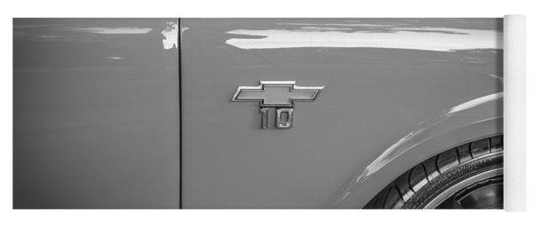 1967 Chevy Silverado Pick Up Truck  Bw Yoga Mat