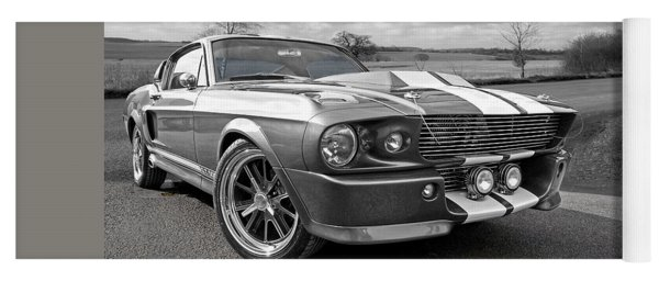 1967 Eleanor Mustang In Black And White Yoga Mat