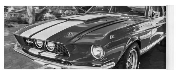 1967 Ford Shelby Mustang Gt500 Painted Bw Yoga Mat