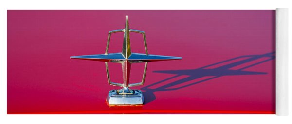 1967 Lincoln Continental Hood Ornament -158c Yoga Mat