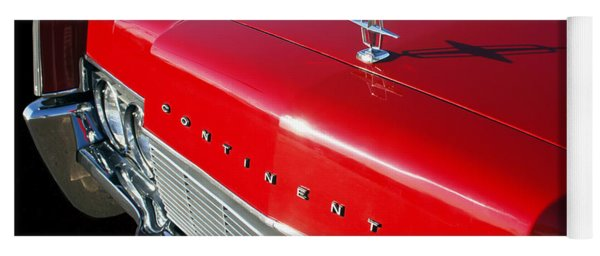 1967 Lincoln Continental Hood Ornament - Emblem -646c Yoga Mat