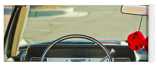 1967 Lincoln Continental Steering Wheel -014c Yoga Mat