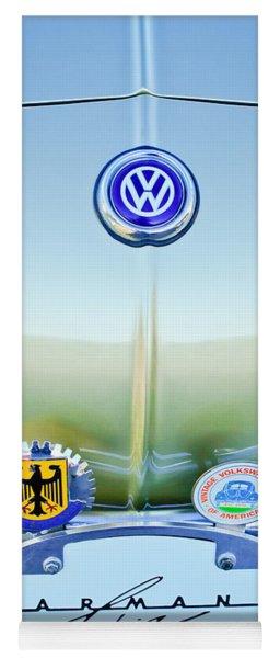 1967 Volkswagen Vw Karmann Ghia Hood Emblem Yoga Mat