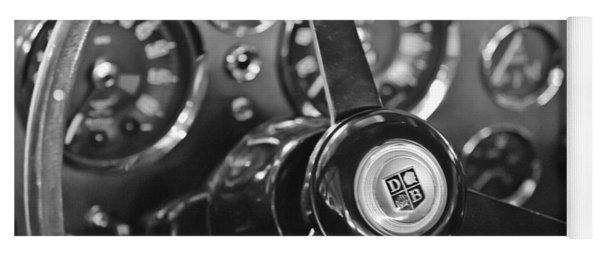 1968 Aston Martin Steering Wheel Emblem Yoga Mat