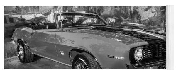 1969 Chevy Camaro Ss 350 Painted Bw  Yoga Mat