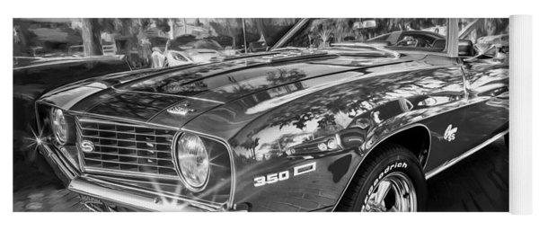 1969 Chevy Camaro Ss Painted Bw  Yoga Mat