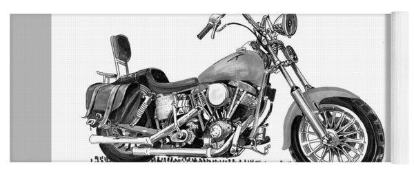 1971 Harley Davidson S O A Shovel Head F  L Yoga Mat