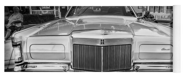 1971 Lincoln Continental Mark IIi Painted Bw  Yoga Mat