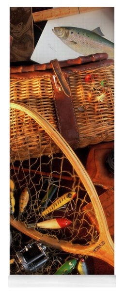 1990s Still Life With Fishing Gear Yoga Mat
