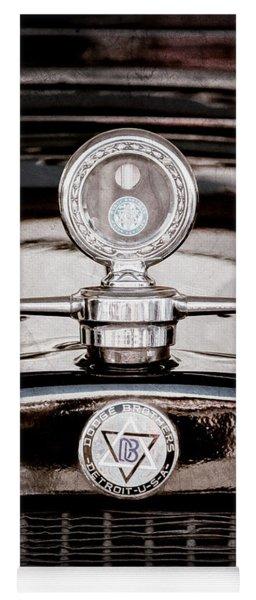 1928 Dodge Brothers Hood Ornament - Moto Meter Yoga Mat