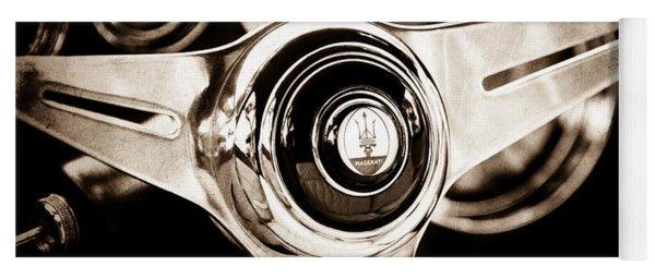 1958 Maserati Steering Wheel Emblem Yoga Mat
