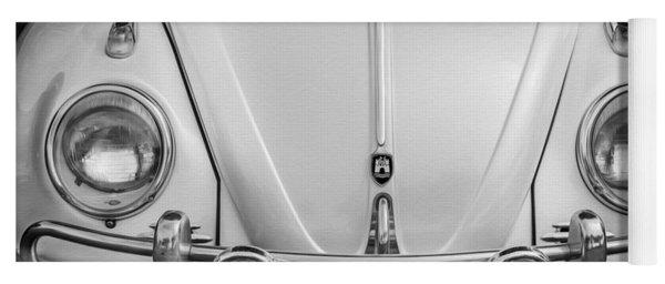 1960 Volkswagen Beetle Vw Bug   Bw Yoga Mat