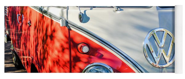 96 Inch Panoramic - 1961 Volkswagen Vw 23-window Deluxe Station Wagon Emblem Yoga Mat