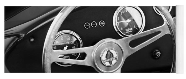 1965 Ac Cobra Steering Wheel Emblem Yoga Mat