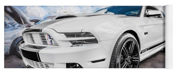 2014 Ford Mustang Gt Cs Painted  Yoga Mat