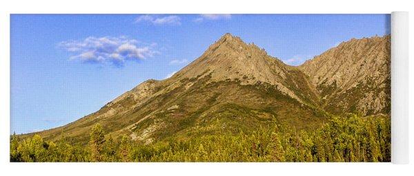 Alaska Mountains Yoga Mat