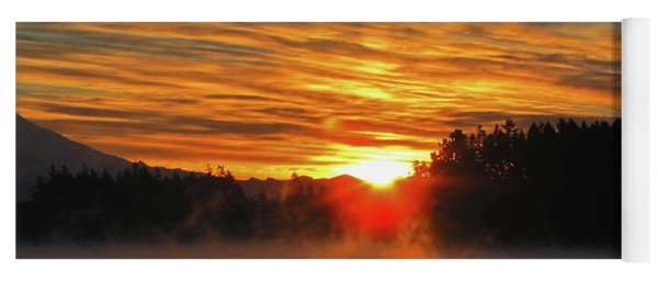 American Lake Sunrise Yoga Mat