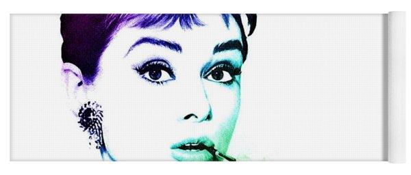 Audrey Hepburn Yoga Mat