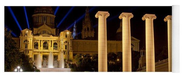 Barcelona By Night Yoga Mat