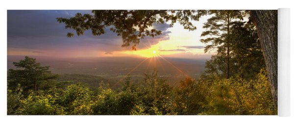 Blue Ridge Mountain Sunset Yoga Mat