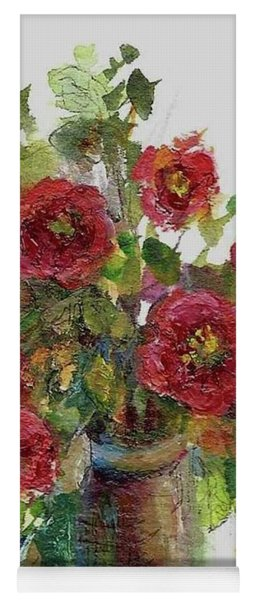 Bouquet Of Poppies Yoga Mat