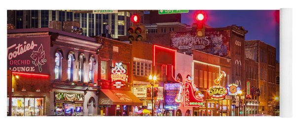Broadway Street Nashville Yoga Mat