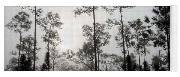 Early Morning Fog Landscape Yoga Mat