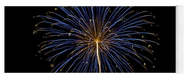 Fireworks Bursts Colors And Shapes Yoga Mat