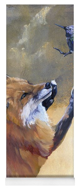 Fox Dances For Hummingbird Yoga Mat