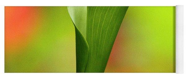 Green Calla Lily Yoga Mat