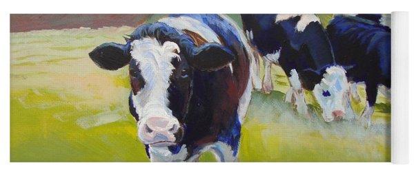 Holstein Friesian Cows Yoga Mat