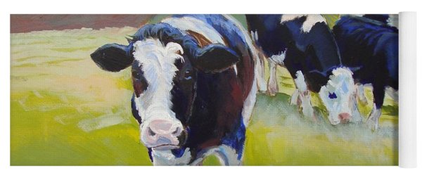 Holstein Friesian Cows Yoga Mat