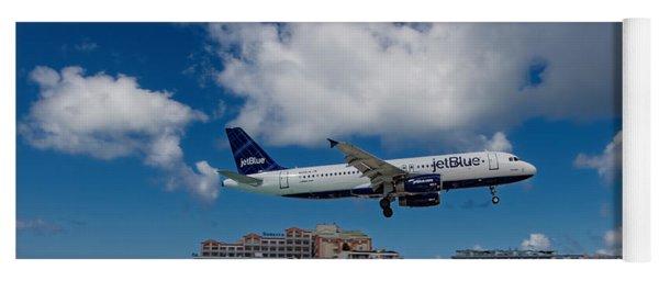 jetBlue landing at St. Maarten Yoga Mat