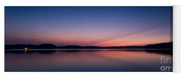Lake Lanier After Sunset Yoga Mat